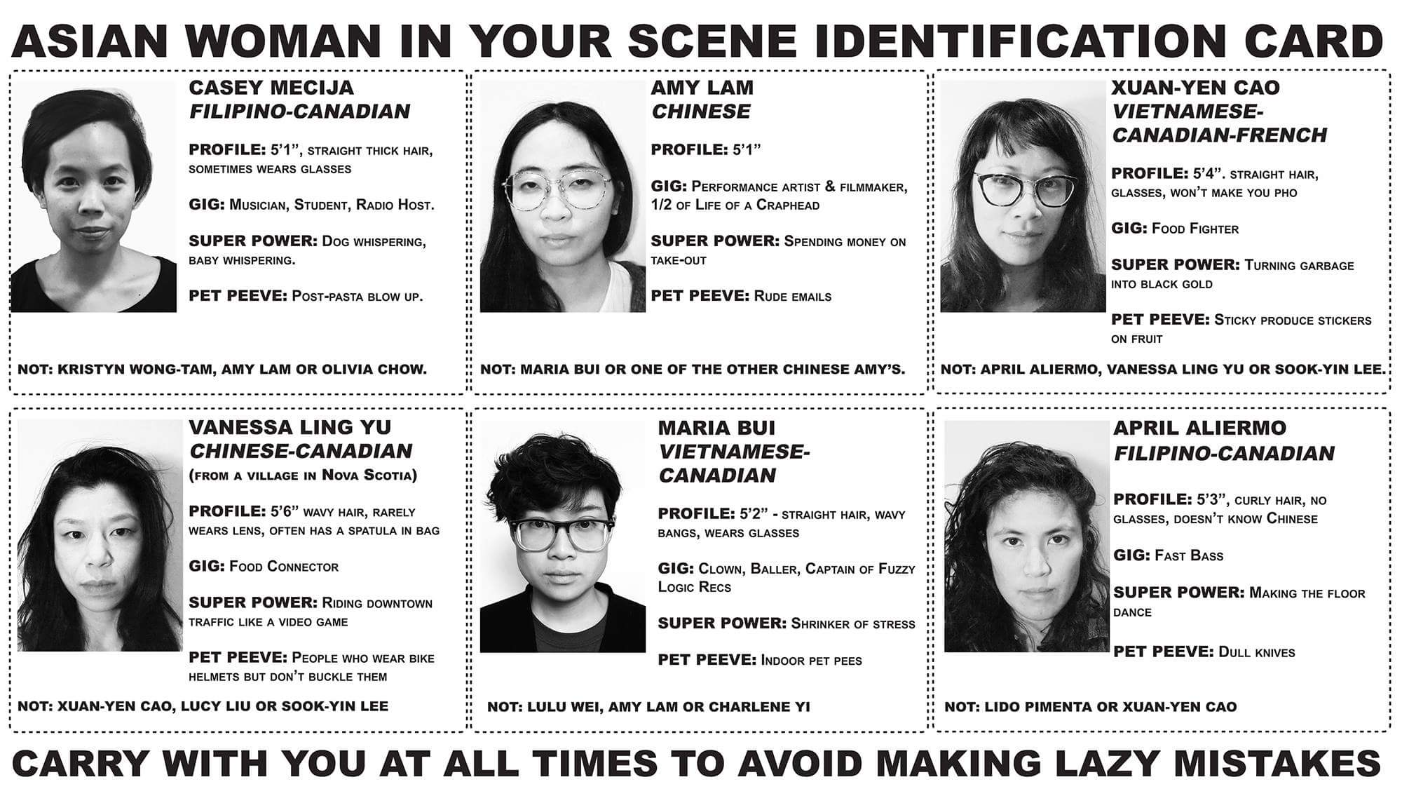 asian woman in your scene identification card